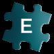 Teal Jigsaw - E